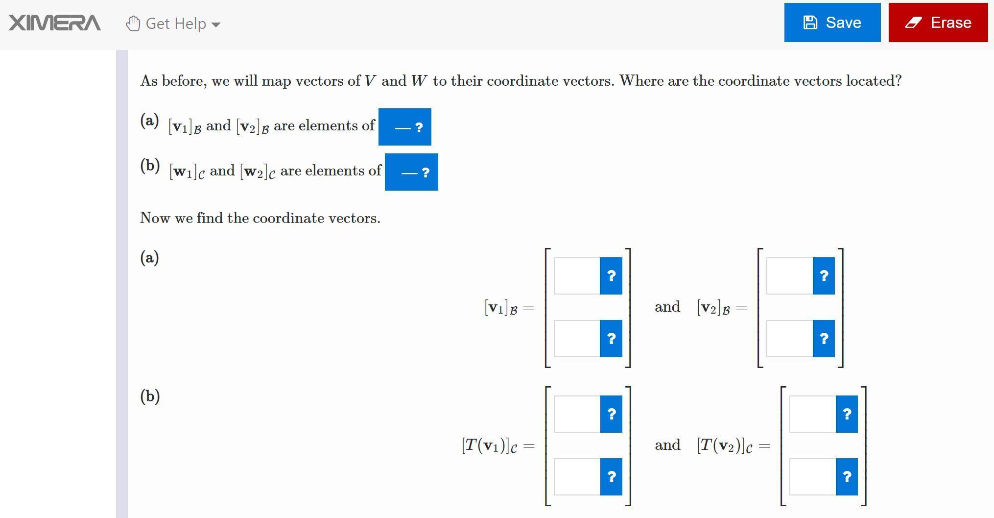 XIMERA screenshot of multiple choice question