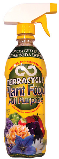 A bottle of TerraCycle plant food.