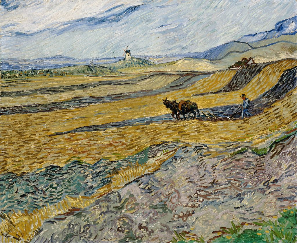 the painting Enclosed Field with Ploughman