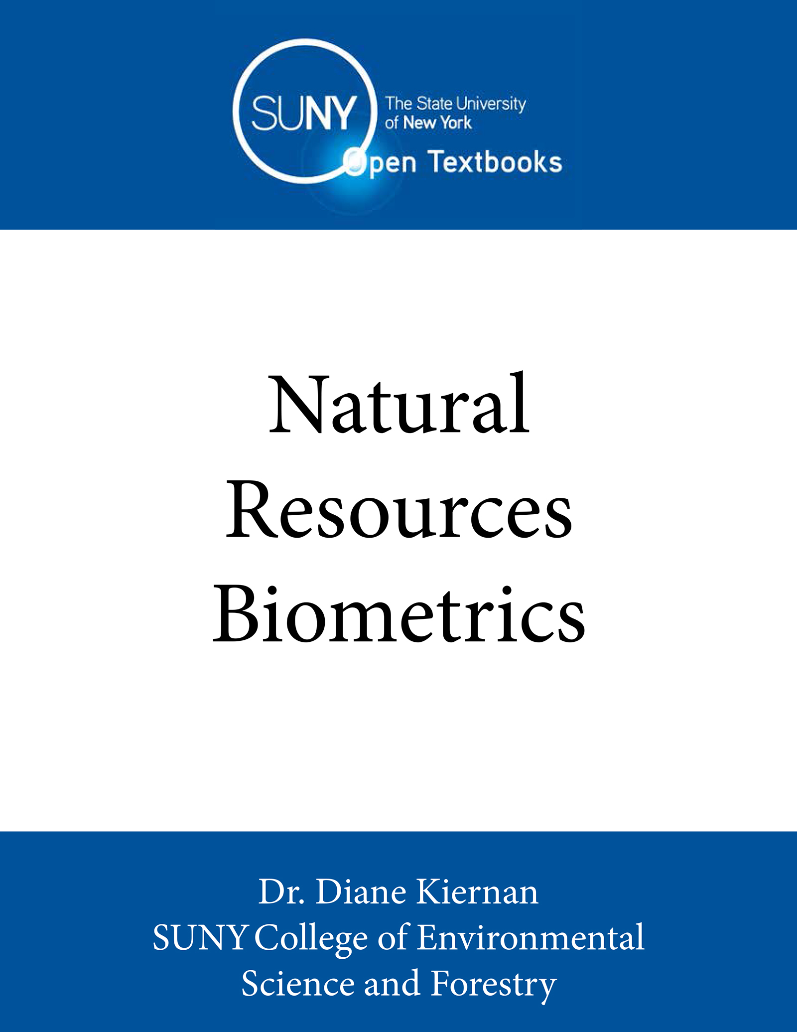 Cover image for Natural Resources Biometrics